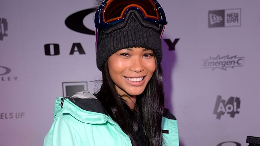 Supermodel Chanel Iman on learning to snowboard at Sundance