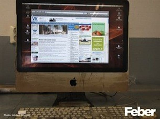 Swede's iMac takes a burnin' and it's still turnin'