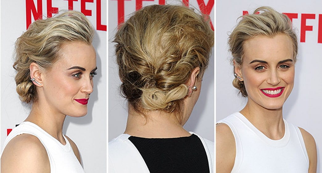 'Orange is the New Black' star Taylor Schilling's sexy textured updo