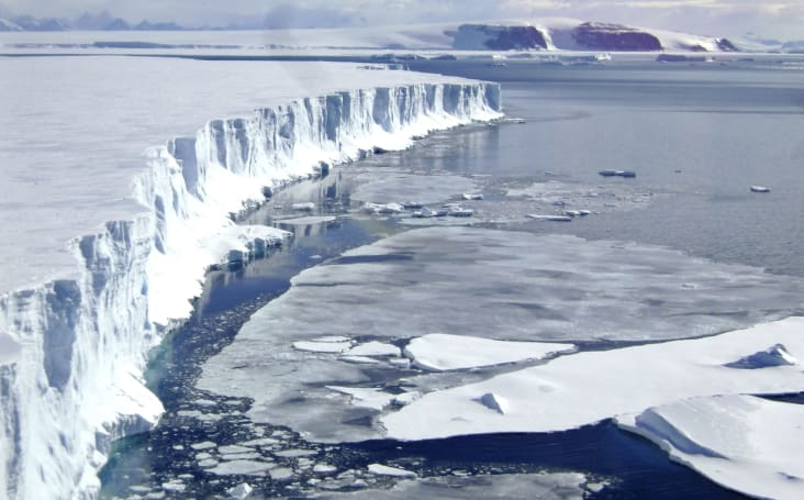 An enormous iceberg is breaking away from the Antarctic