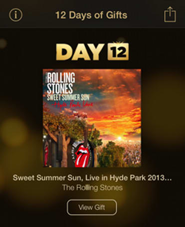 Apple wraps up 12 Days of Gifts with Rolling Stones mini album