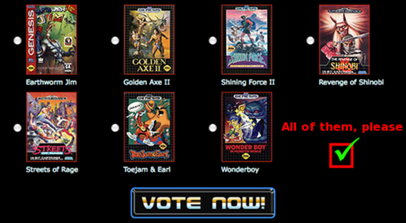 Sega wants your vote for the next Genesis XBLA game