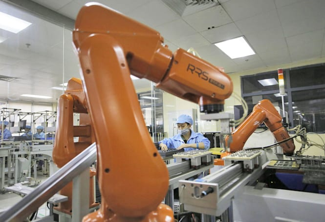 Foxconn replaces 60,000 human workers with robots