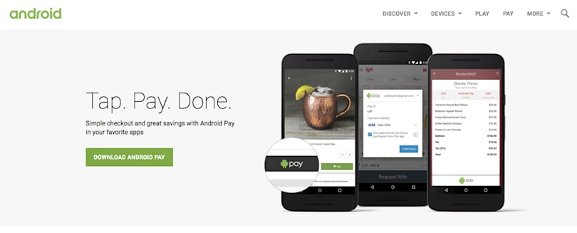 Google lists Android Pay promotions in one page