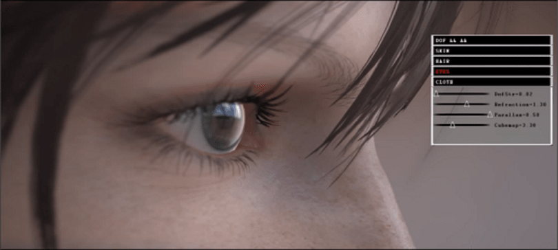 Agni's Philosophy tech demos showcase insanely detailed faces, adjustable forehead sweat
