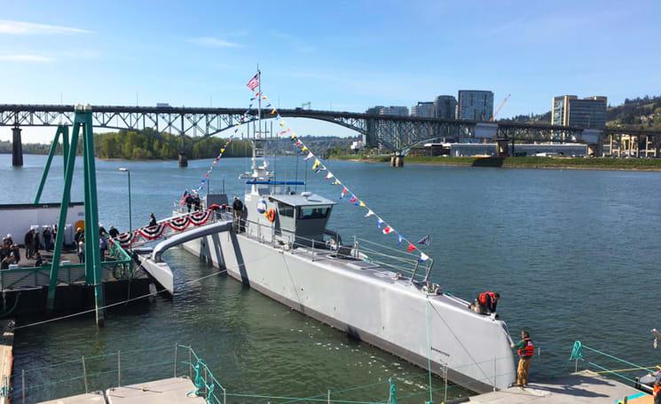 DARPA christens its anti-submarine drone ship 'Sea Hunter'