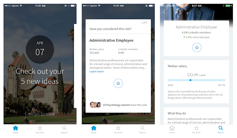 LinkedIn's new app for students tries to make job-hunting easier