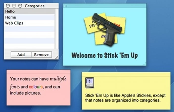 Stick 'Em Up: An enhanced replacement for Apple's Stickies