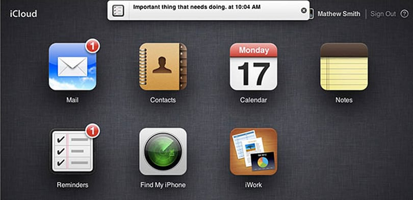 Apple iCloud adds iOS-style notification bar, Notes and Reminders web apps