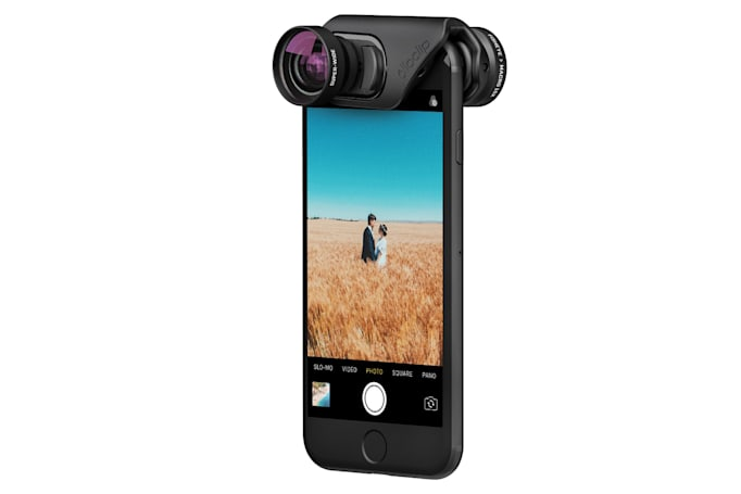 Olloclip's new lenses attach quickly to your iPhone 7