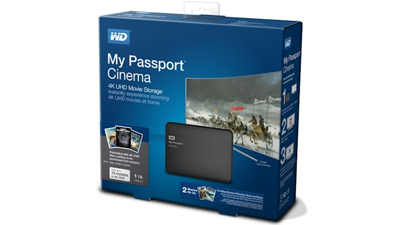 1TB My Passport Cinema drive puts 4K Ultra HD movies in your pocket