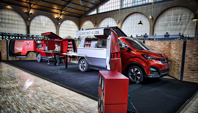 Peugeot's transforming food truck is a mobile French bistro for 30