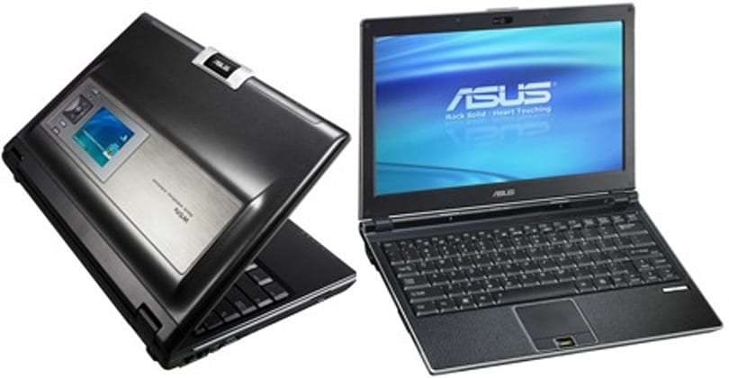 ASUS' W5Fe SideShow laptop and U1F ultra-portable shipping this month (in Japan)