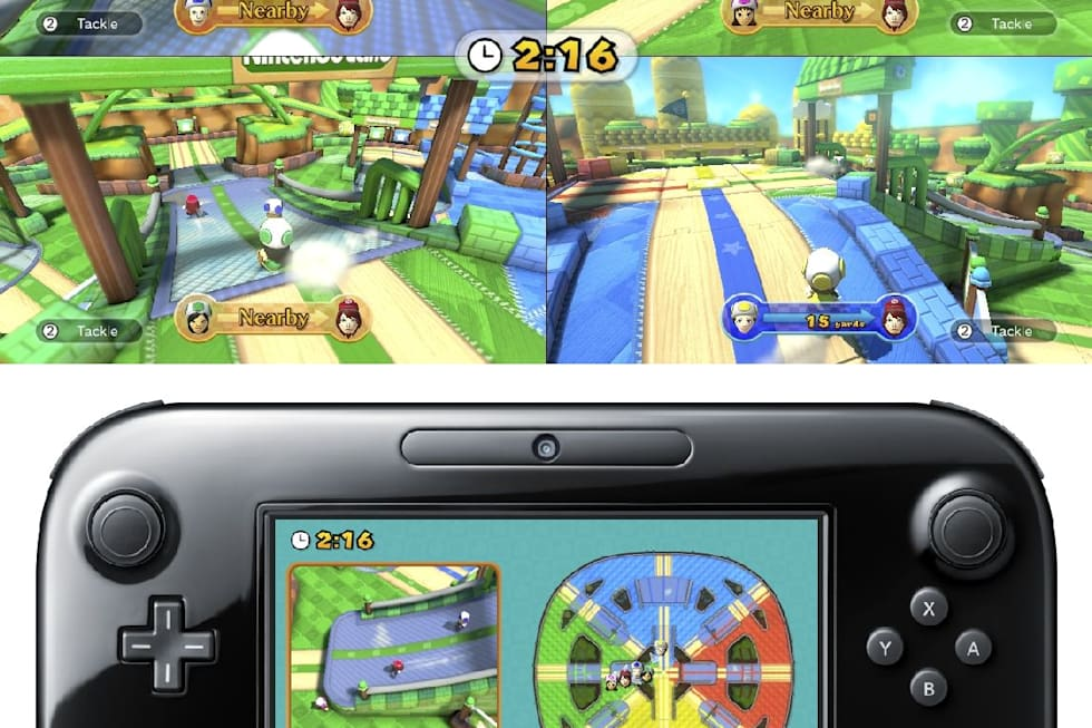 Nintendo Land Features Yoshi F Zero And Octopus Dance