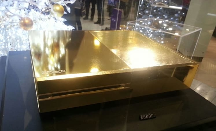 How much would you pay for this gold-plated Xbox One?