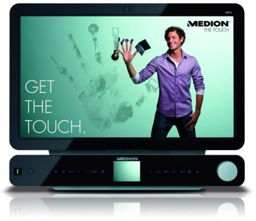 Medion's 24-inch X9613 multitouch all-in-one PC actually looks pretty hot