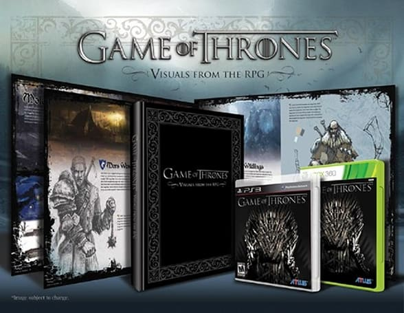 Game of Thrones pre-order includes hardbound art book, hard winter