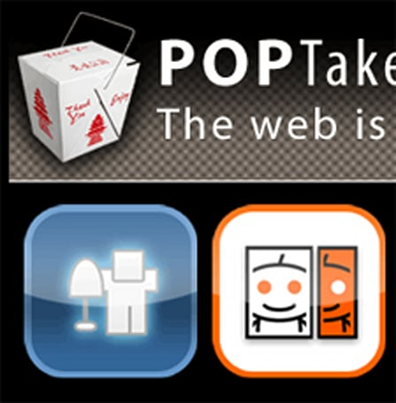 POP Takeout lays out social news in MobileSafari