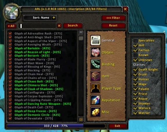 Addon Spotlight: Ackis Recipe List