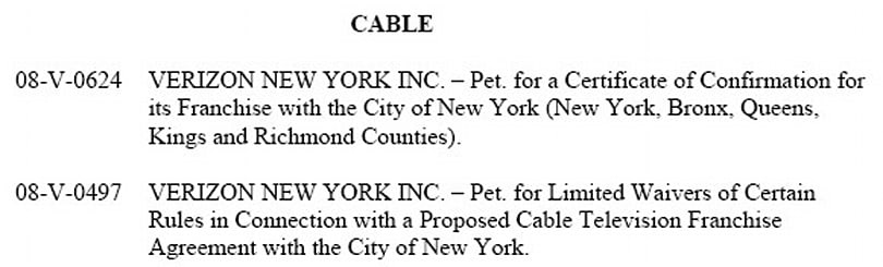NY Public Service Commission to debate FiOS TV approval tomorrow