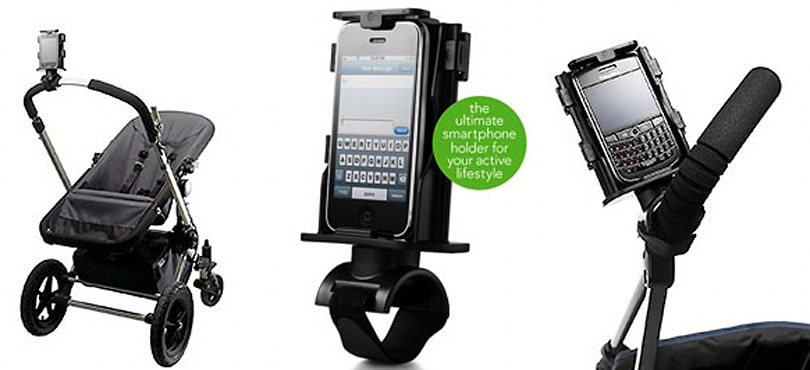 Texthook holder puts your phone where it belongs: between you and your progeny