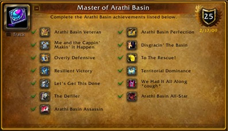 The OverAchiever: Master of Arathi Basin