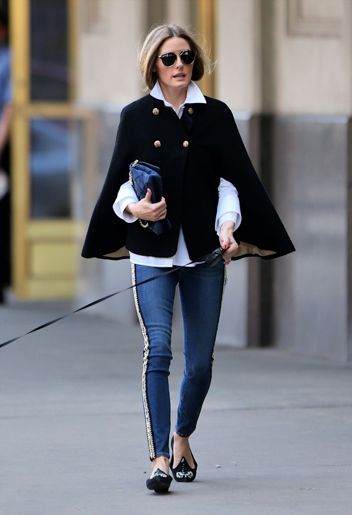 Get the look: Olivia Palermo's cape coat