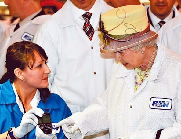 Caption Contest: the Queen's RIM visit