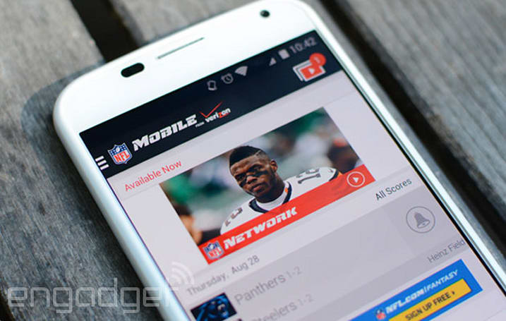 NFL Mobile gets Sunday afternoon streaming for Verizon customers