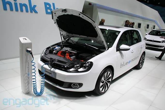 All-electric VW Golf Blue-e-emotion still on track for 2013 release, in white