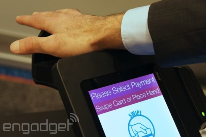 PulseWallet lets you pay for things using palm recognition, but only if you're a returning customer
