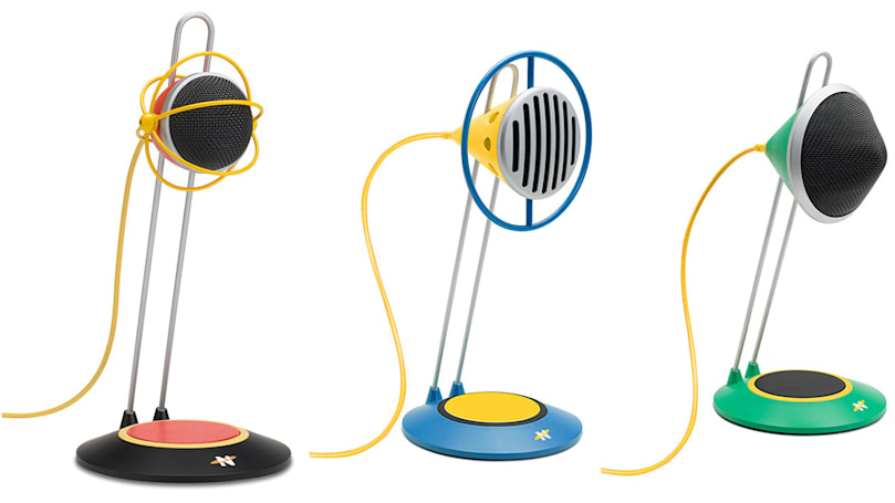 Gibson takes a whimsical approach to the podcast microphone
