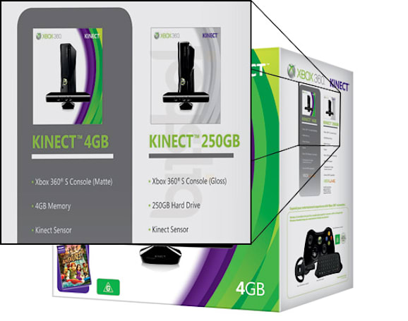 Kinect Xbox 360 250GB bundle announced