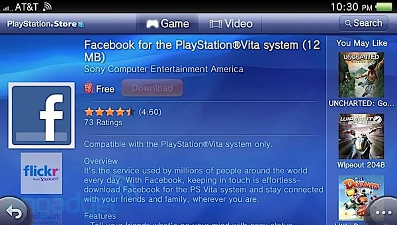 PS Vita Facebook app officially resurfaces, available for download (again)