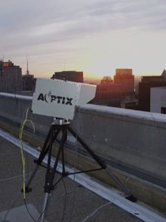 AOptix demos laser wireless links to replace fiber HD connections