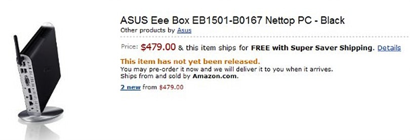 ASUS Eee Box EB1501 primed for $479 Amazon pre-order