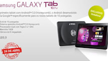 Samsung Galaxy Tab 10.1v available tomorrow for €590, starting with Portugal