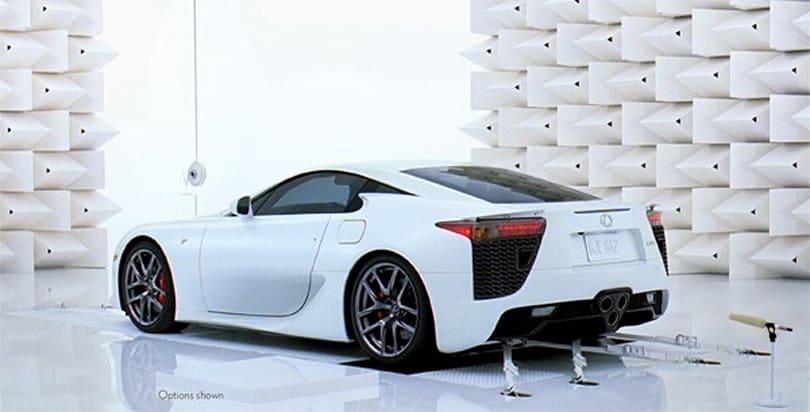 Lexus breaks a champagne glass with a $375,000 hammer, so to speak