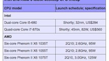 AMD six-core CPU prices and clock speeds unearthed