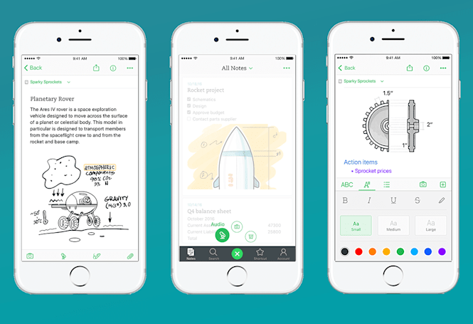 Evernote aims for speed and simplicity with its new iOS app