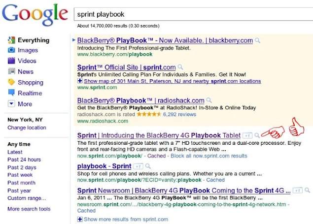 WiMAX PlayBook 4G announcement betrayed by Google search?
