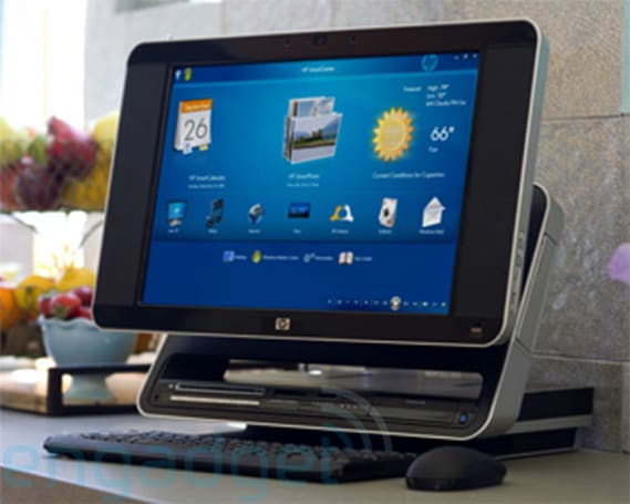 "HP IQ770 ""Crossfire"" 19-inch touchscreen Vista PC revealed!"
