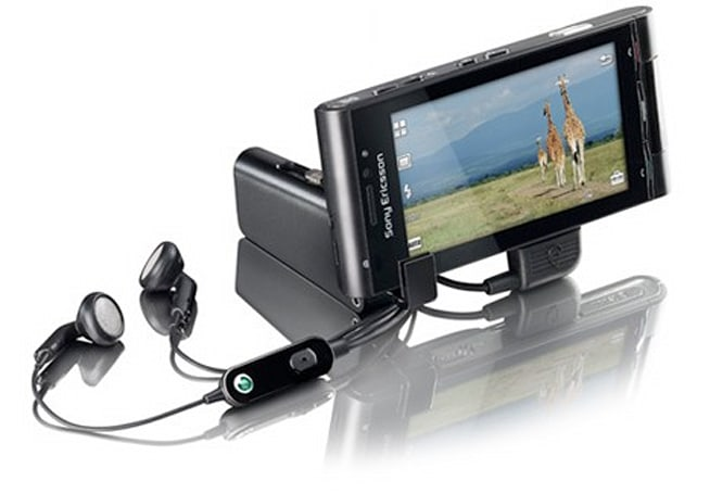 """Sony Ericsson IM920 """"Video Viewing Stand"""" is a microSD to USB adapter... shaped like a stand"""