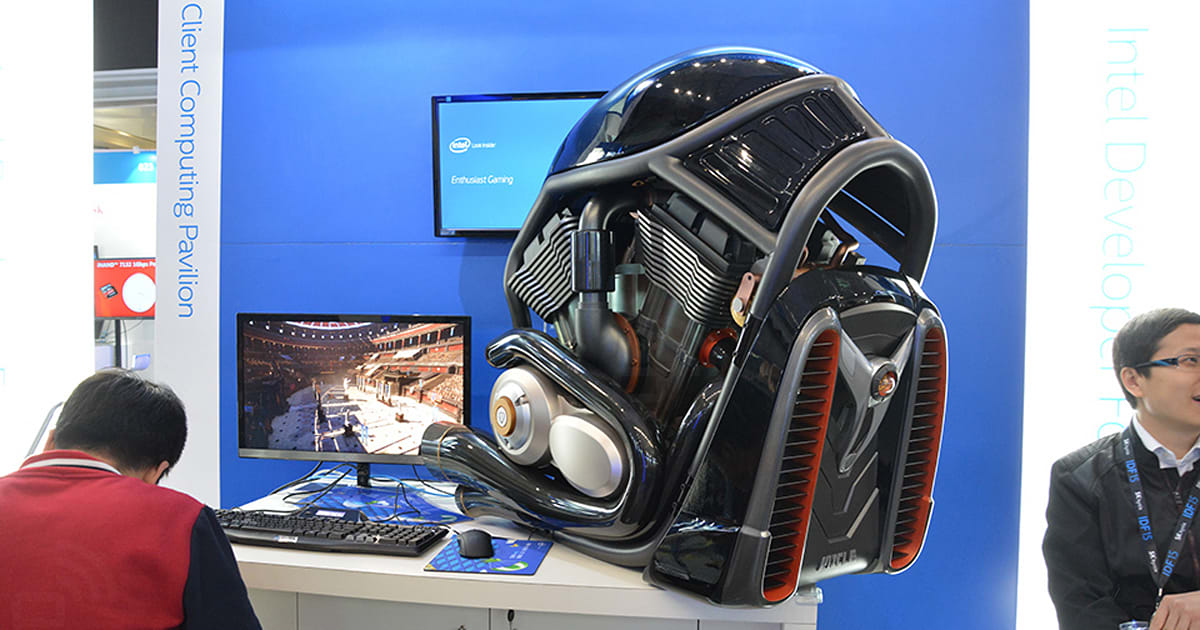 You can't ride on this Harley-Davidson-themed PC case