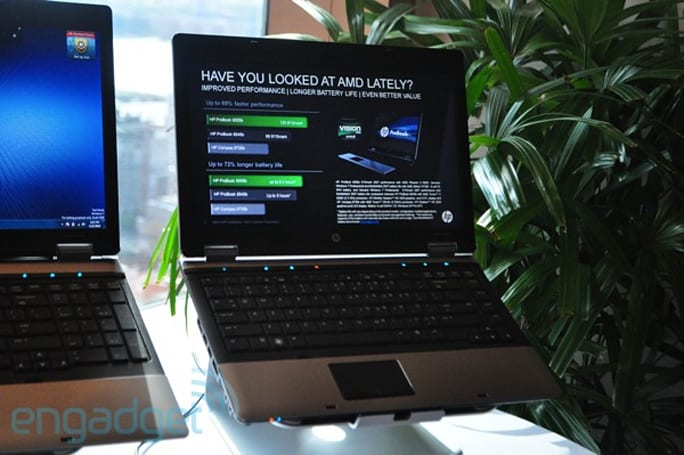 HP unleashes seven new ProBooks, cuddles up with AMD