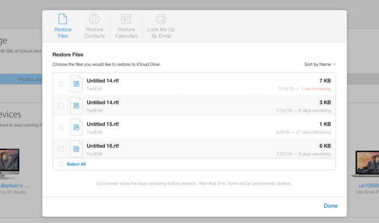 You can now restore deleted iCloud files, contacts and calendars