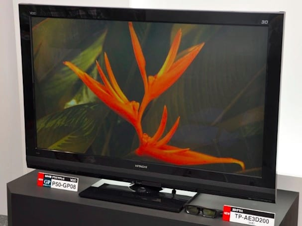 Hitachi's 50-inch P50-GP08 3D TV could be its Japanese swan song