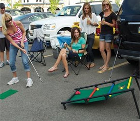 Tailgate Golf Cornhole and Ladder Chipping Hybrid Golf Game