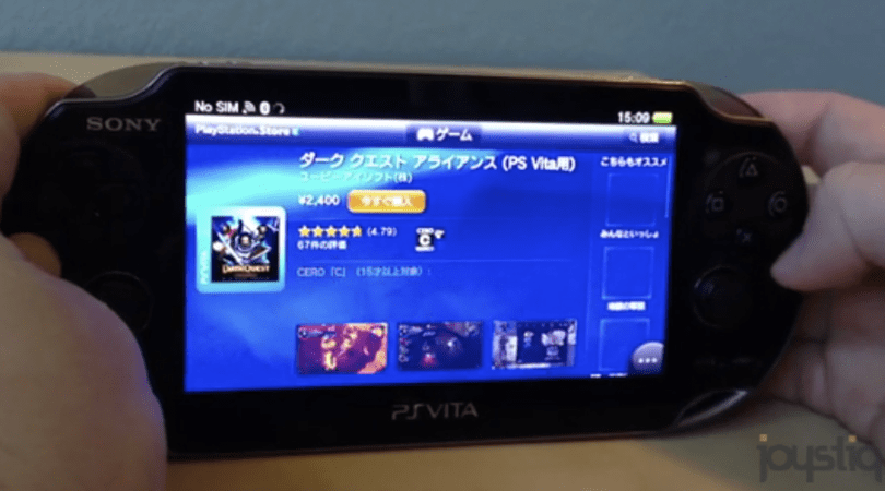 PS Vita's interface, background downloading, and Getting Started video