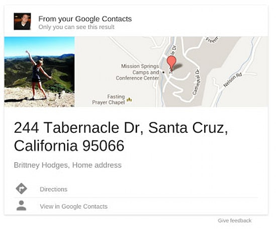 Google Search field trial adds Gmail contact info to your search results, promises Google+ profile support soon
